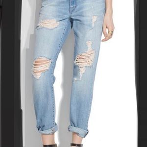 Madewell rip and repair boyfriend jeans
